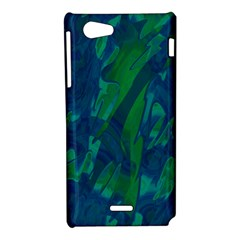 Green and blue design Sony Xperia J