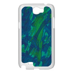 Green and blue design Samsung Galaxy Note 2 Case (White)