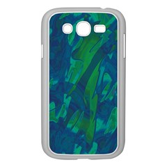 Green and blue design Samsung Galaxy Grand DUOS I9082 Case (White)