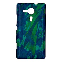 Green and blue design Sony Xperia SP