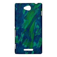 Green and blue design Sony Xperia C (S39H)