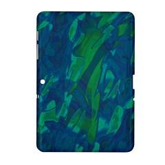 Green and blue design Samsung Galaxy Tab 2 (10.1 ) P5100 Hardshell Case