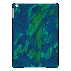 Green and blue design iPad Air Hardshell Cases