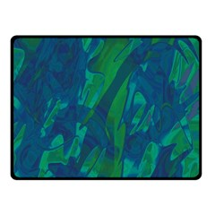 Green and blue design Double Sided Fleece Blanket (Small)