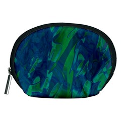Green and blue design Accessory Pouches (Medium)