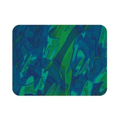 Green and blue design Double Sided Flano Blanket (Mini)