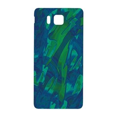 Green and blue design Samsung Galaxy Alpha Hardshell Back Case