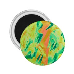 Green and orange abstraction 2.25  Magnets
