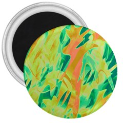 Green and orange abstraction 3  Magnets