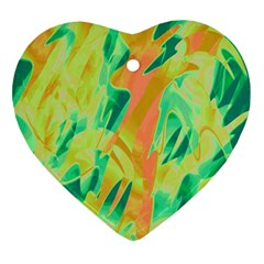 Green and orange abstraction Ornament (Heart)
