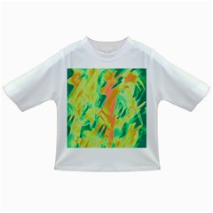 Green and orange abstraction Infant/Toddler T-Shirts