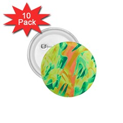 Green and orange abstraction 1.75  Buttons (10 pack)