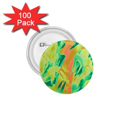 Green and orange abstraction 1.75  Buttons (100 pack)