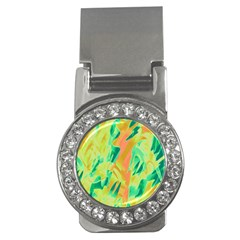 Green and orange abstraction Money Clips (CZ)
