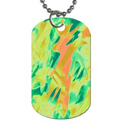 Green and orange abstraction Dog Tag (Two Sides)