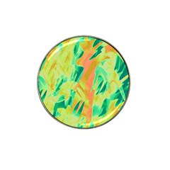 Green and orange abstraction Hat Clip Ball Marker
