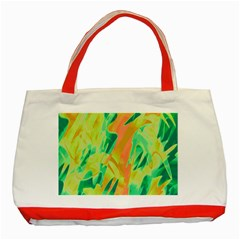 Green and orange abstraction Classic Tote Bag (Red)