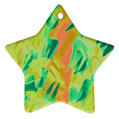 Green and orange abstraction Star Ornament (Two Sides)