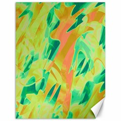 Green and orange abstraction Canvas 12  x 16