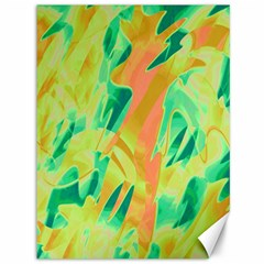 Green and orange abstraction Canvas 36  x 48