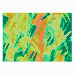 Green and orange abstraction Large Glasses Cloth