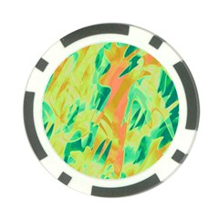 Green and orange abstraction Poker Chip Card Guards