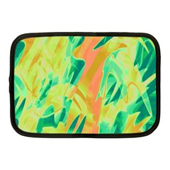 Green and orange abstraction Netbook Case (Medium)