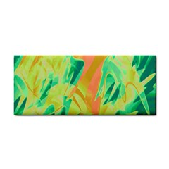 Green and orange abstraction Hand Towel