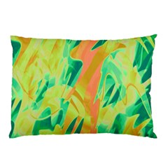 Green and orange abstraction Pillow Case