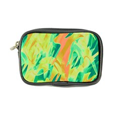 Green and orange abstraction Coin Purse