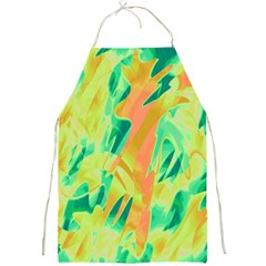 Green and orange abstraction Full Print Aprons