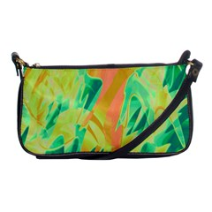 Green and orange abstraction Shoulder Clutch Bags