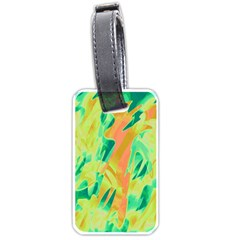 Green and orange abstraction Luggage Tags (One Side)