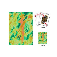 Green and orange abstraction Playing Cards (Mini)