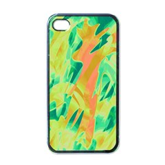 Green and orange abstraction Apple iPhone 4 Case (Black)