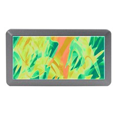 Green and orange abstraction Memory Card Reader (Mini)