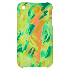 Green and orange abstraction Apple iPhone 3G/3GS Hardshell Case