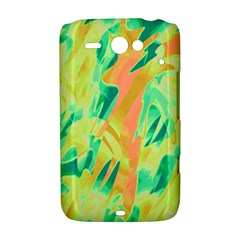 Green and orange abstraction HTC ChaCha / HTC Status Hardshell Case