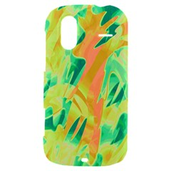 Green and orange abstraction HTC Amaze 4G Hardshell Case