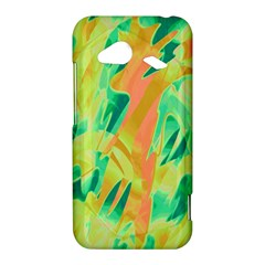 Green and orange abstraction HTC Droid Incredible 4G LTE Hardshell Case