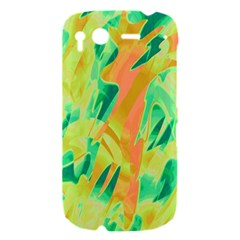 Green and orange abstraction HTC Desire S Hardshell Case