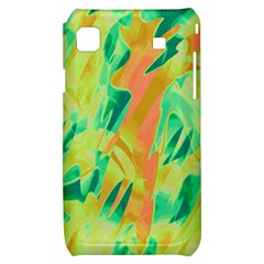 Green and orange abstraction Samsung Galaxy S i9000 Hardshell Case