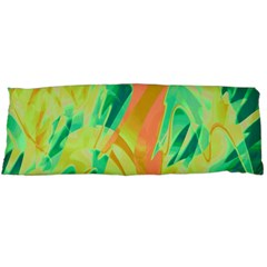 Green and orange abstraction Body Pillow Case Dakimakura (Two Sides)