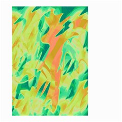 Green and orange abstraction Small Garden Flag (Two Sides)