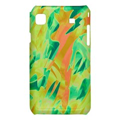 Green and orange abstraction Samsung Galaxy S i9008 Hardshell Case