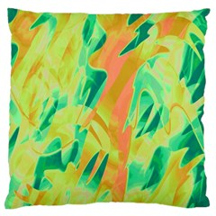 Green and orange abstraction Large Cushion Case (Two Sides)