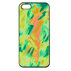 Green and orange abstraction Apple iPhone 5 Seamless Case (Black)