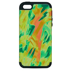 Green and orange abstraction Apple iPhone 5 Hardshell Case (PC+Silicone)