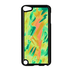 Green and orange abstraction Apple iPod Touch 5 Case (Black)