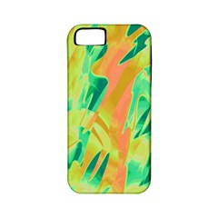 Green and orange abstraction Apple iPhone 5 Classic Hardshell Case (PC+Silicone)